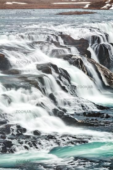 Close up of Gullfoss waterfall, Iceland