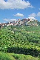 Wine Village of La Morra in Piedmont near Asti and Barolo,Italy