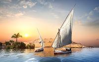 Sunset in Aswan