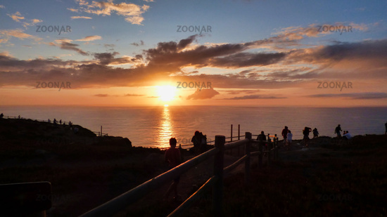 Dramatic Sunset Landscape at Cabo da Roca, Portugal Seascape European Tropical Travel Destination