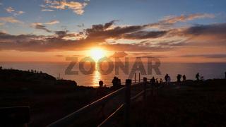 Dramatic Sunset Landscape at Cabo da Roca, Portugal Seascape European Tropical Travel Destination