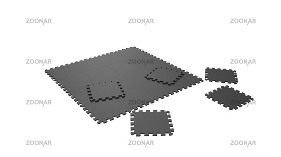 3d rendering of a rubber tile floor isolated in white background