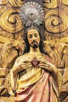Jesus Christ, figure of a saint, Jesuit church, Funchal, Madeira, Portugal, Europe