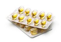 Blister packs of fish oil capsules