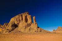 Abstract Rock formation at Tamezguida , Tassili nAjjer national park, Algeria
