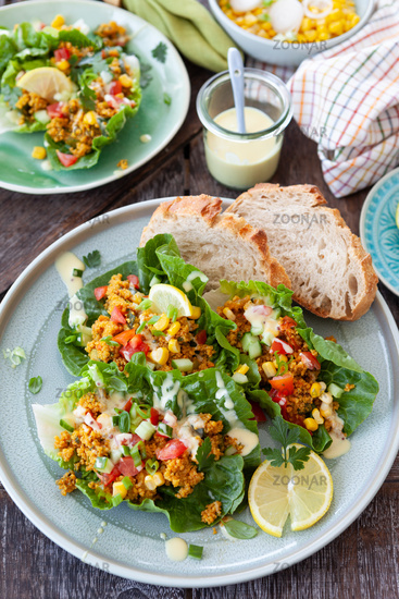 Colorful salad with couscous