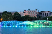 beautiful fountain on hangzhou west lake