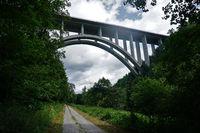 bridge of the highway A81 named Neckarburg, Germany