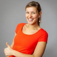 sympathetic smiling woman
