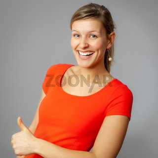 sympathetic smiling woman