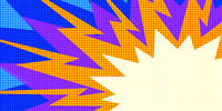 multicolor explosion pop art