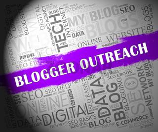 Blogger Outreach Influencer Engagement Content 2d Illustration
