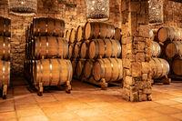 wodden barrels in Chile