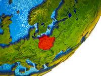 Poland on 3D Earth