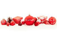 Frohe Weihnachten Text auf Christbaumkugel