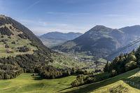 View of the Buochserhorn from the mountain station Luftseilbahn Dallenwil - Wirzweli, Nidwalden, Swi