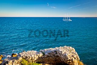French riviera sailing near Antibes