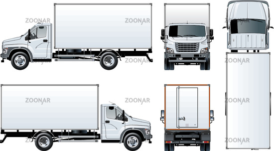 photo vector truck template isolated on white image 12175040