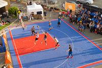 basketball street ball championship aerial