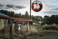 Old Gas Pump Station in Washington State