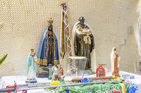 Brazilian rustic religious home altar