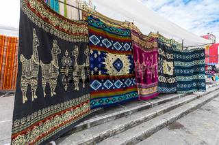 carpets at the market of Otavalo