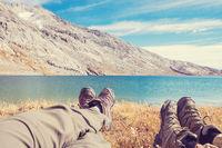 Hiking scene