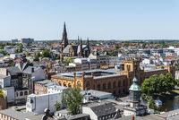 arsenal, church St. Paul, city view, Schwerin, Mecklenburg-Western Pomerania, Germany, Europe