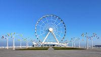 View of the Baku ferris wheel