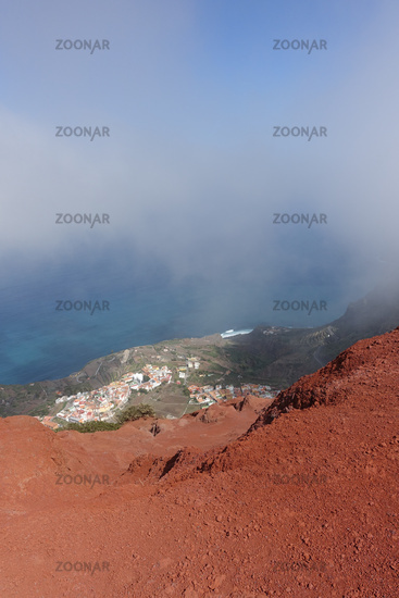 Look to Agulo, La Gomera, Canary Islands, Spain