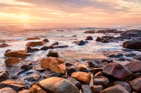Coastal views from stoney shores of south coast