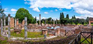 Tivoli - Villa Adriana or Hadrians Villa - Rome - Lazio landmark - Italy panoramic horizontal