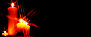 Set of lighting candles