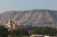 Jaipur on the background of Amber Fort