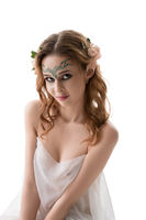 Sexy girl in the image of elf isolated shot