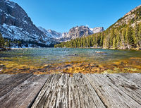 The Loch Lake, Rocky Mountains, Colorado, USA.