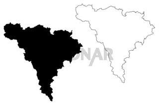 Alba County (Administrative divisions of Romania, Centru development region) map vector illustration, scribble sketch Alba map