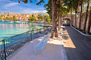 Turquoise waterfront of Cavtat view