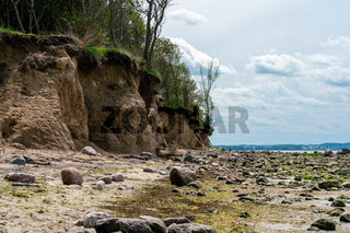 cliff line on the weast coast of the german island Poel