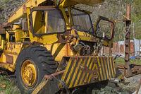 Wild disposal of a crane truck