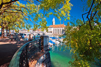 Zurich waterfront Limmat river and landmarks colorful view