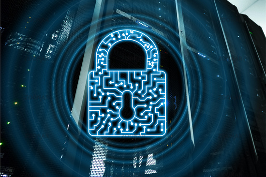 Cyber Security lock icon Information Privacy Data Protection internet and Technology concept.
