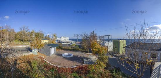 Autumn landscape on Langeron beach, Ukraine