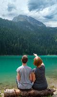Family on Black lake, Montenegro
