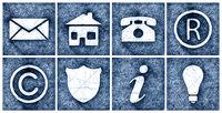 modern icons set ballpoint pen doodle