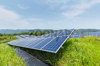 solar panels on hillside