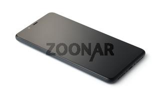 Turned off black modern smartphone