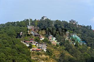 Terrassenförmig angelegte Hotels und Gästehäuser, Kathmandutal, Nagarkot, Nepal