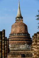 ancient pagoda in ayutthaya thailand, digital photo picture as a background