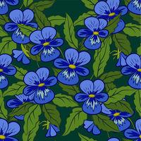 Flowers Pansies Seamless